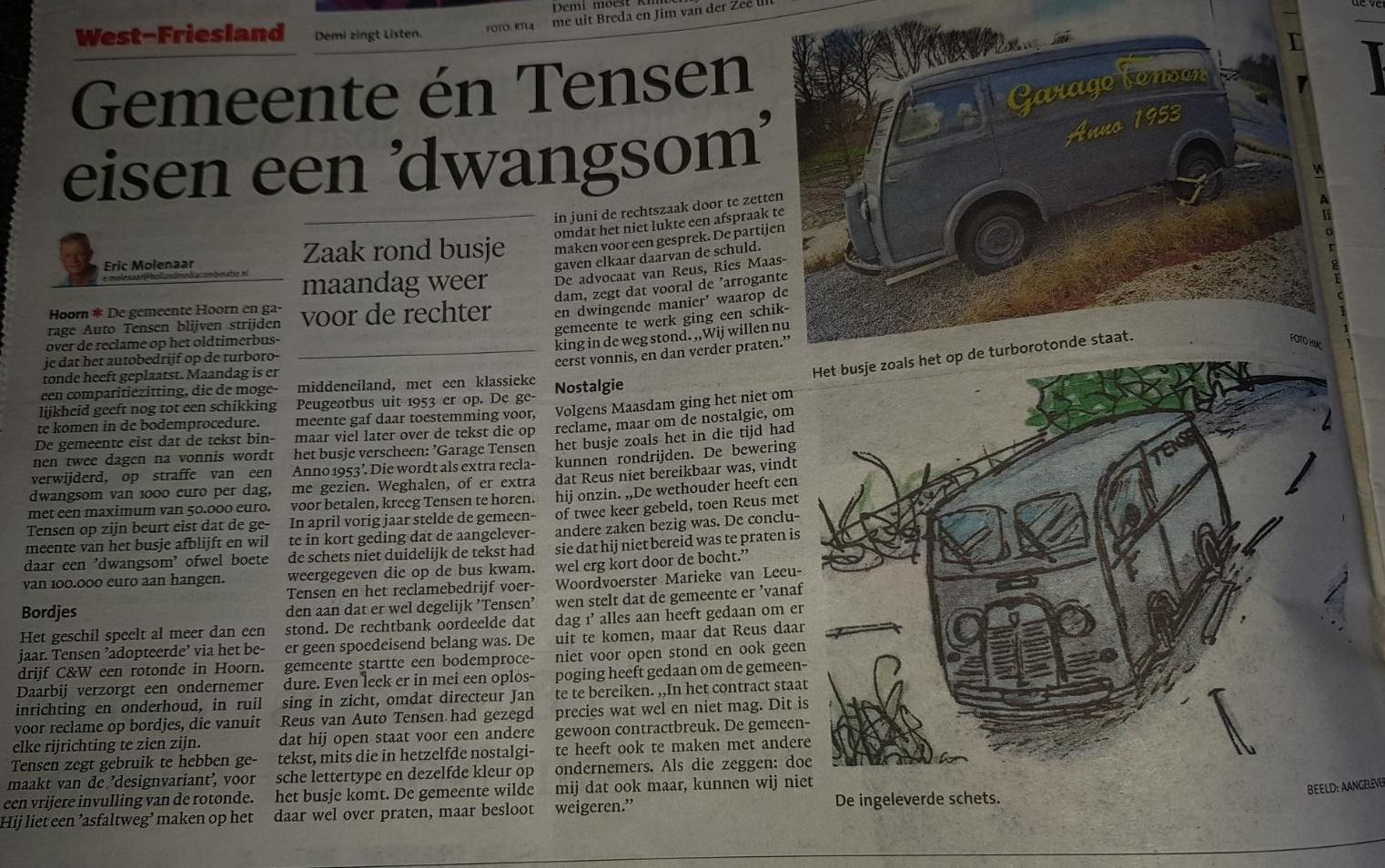 Ries Maasdam advocaat Tensen turbo rotonde advocatenkantoor zitting nieuws Hoorn Zwaag
